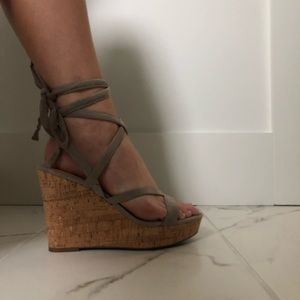 Tie ankle Guess wedges